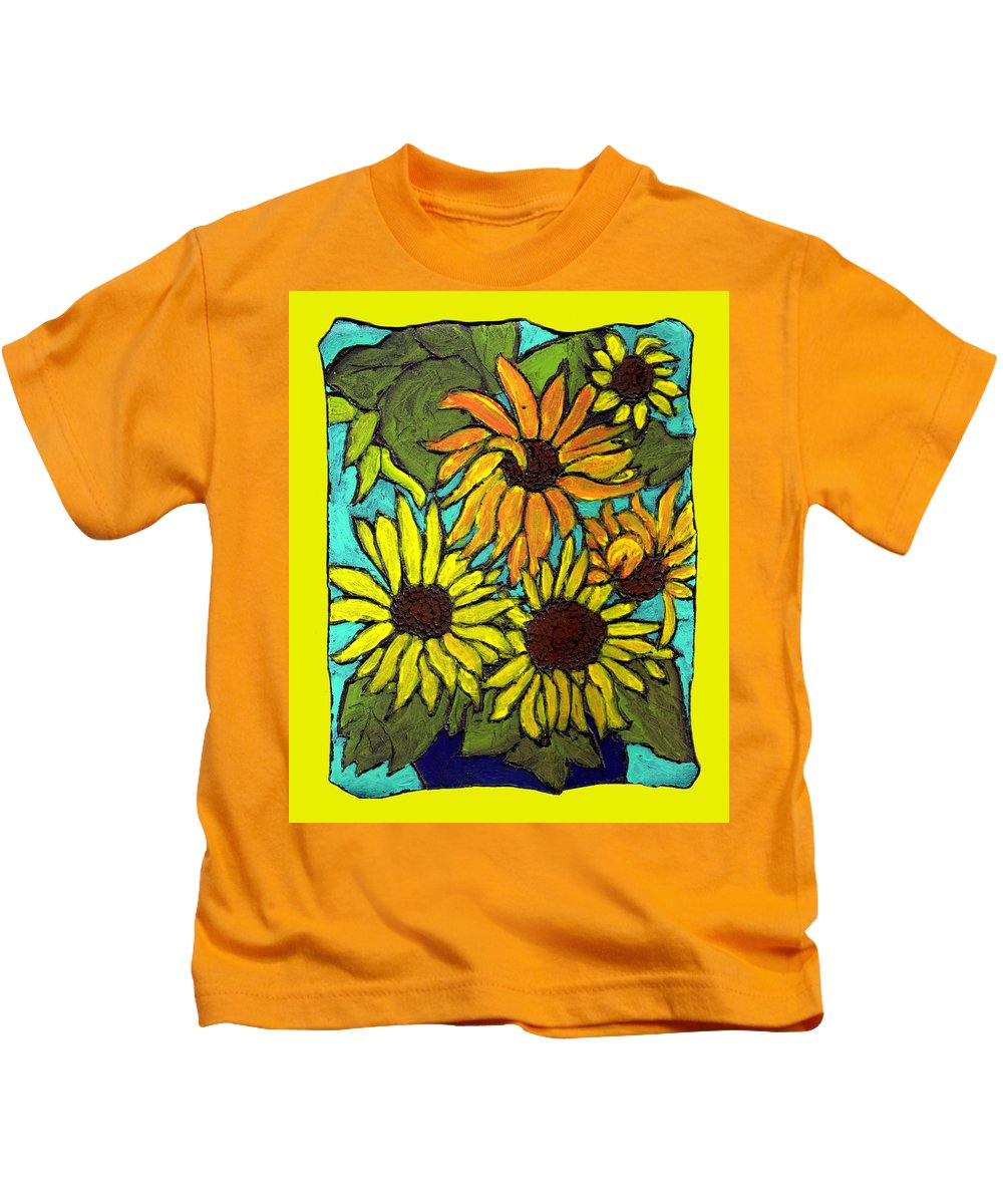 Yellow Kids T-Shirt featuring the painting Let The Sunshine In by Wayne Potrafka