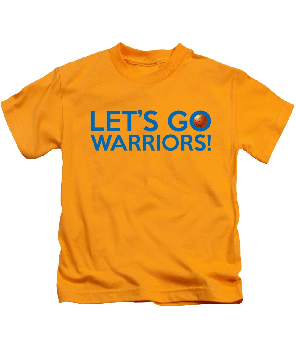 5ea4bb3caf974 Golden State Warriors Kids T-Shirt featuring the painting Let s Go Warriors  by Florian Rodarte