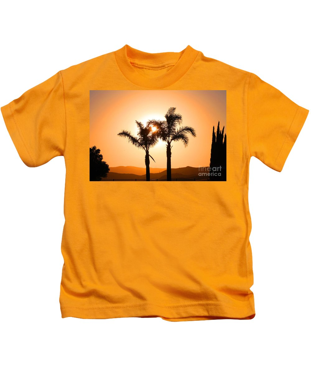 Sunset Kids T-Shirt featuring the photograph Lidia's World Part IIi by Tommy Anderson
