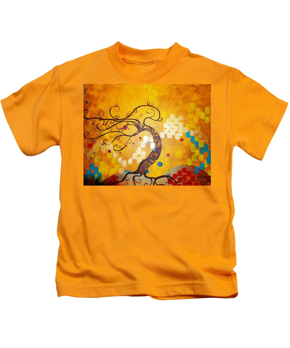 Kids T-Shirt featuring the painting Life Is A Ball by Stefan Duncan