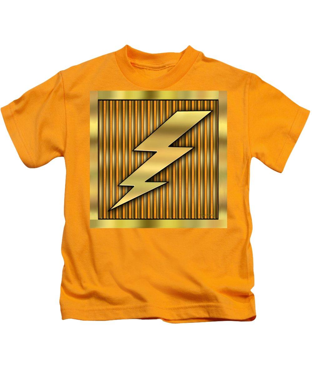 Lightning Bolt Kids T-Shirt featuring the digital art Lightning Bolt by Chuck Staley
