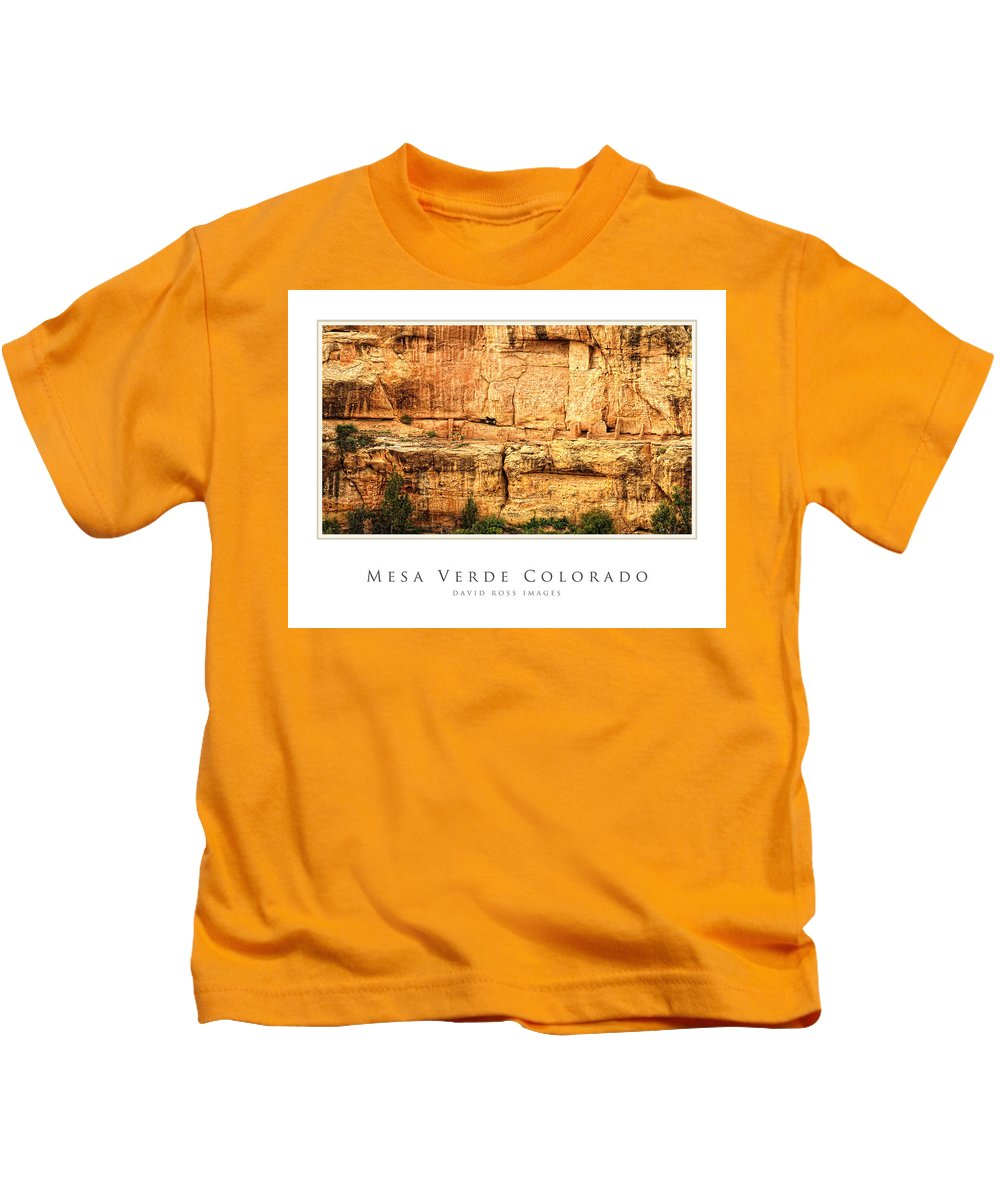 Anasazi Kids T-Shirt featuring the photograph Mesa Verde Colorado Gallery Series Collection by David Ross