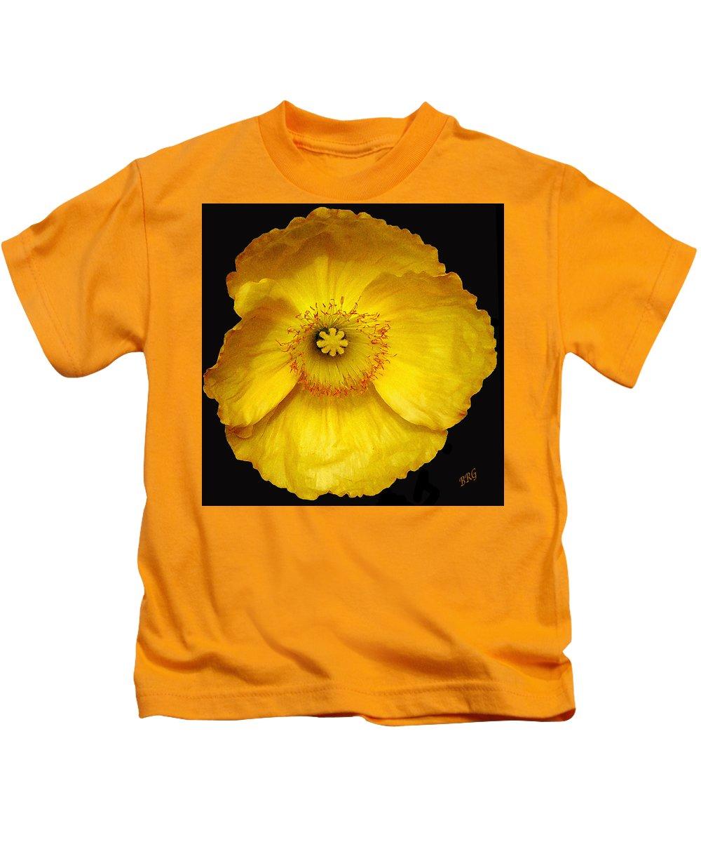 Iceland Poppy Kids T-Shirt featuring the photograph Midnight Poppy by Ben and Raisa Gertsberg