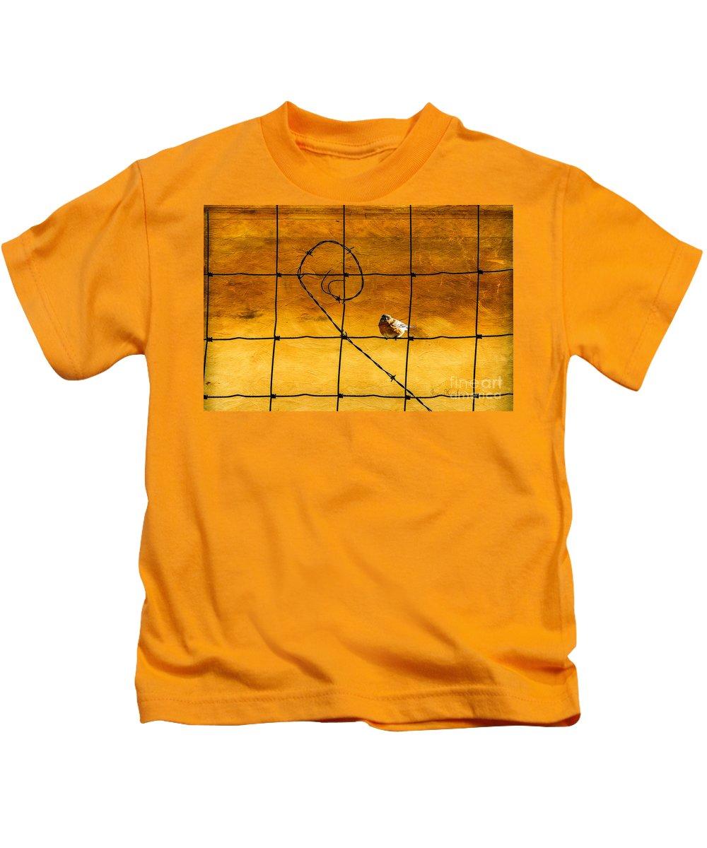 Birds Kids T-Shirt featuring the photograph Morning Sunrise. by Joe Hawkins