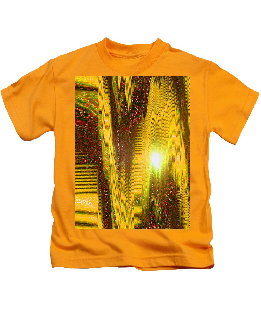 Moveonart! Digital Gallery Kids T-Shirt featuring the digital art Moveonart The Light Shall Speak by Jacob Kanduch