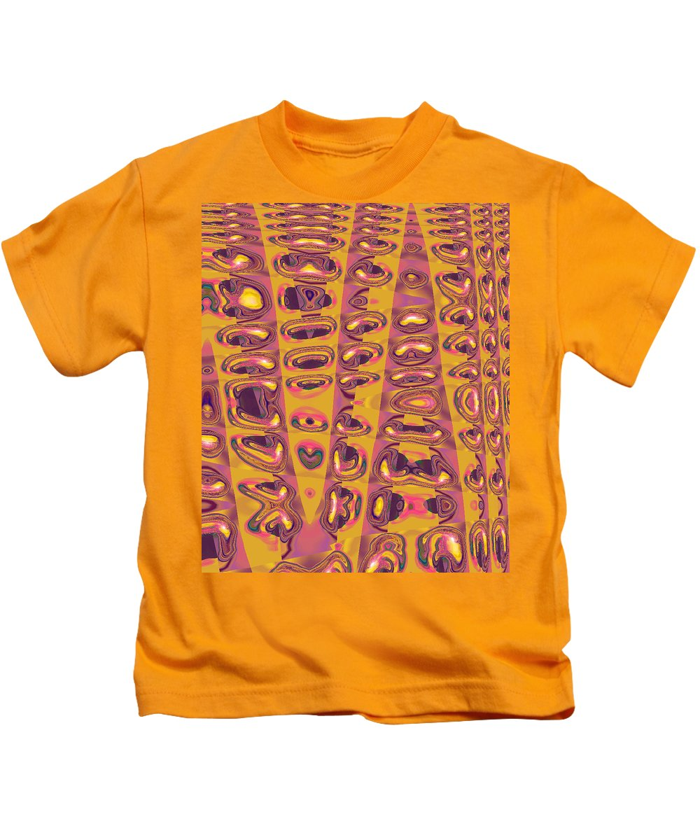 Moveonart! Digital Gallery Kids T-Shirt featuring the digital art Moveonart Touched 2 by Jacob Kanduch