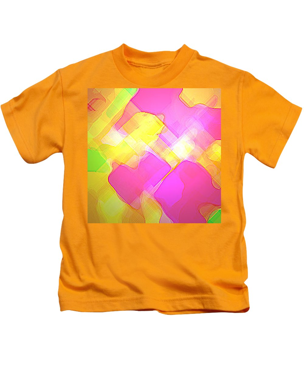 Moveonart! Digital Gallery Kids T-Shirt featuring the digital art Moveonart Try Not Being Shy by Jacob Kanduch