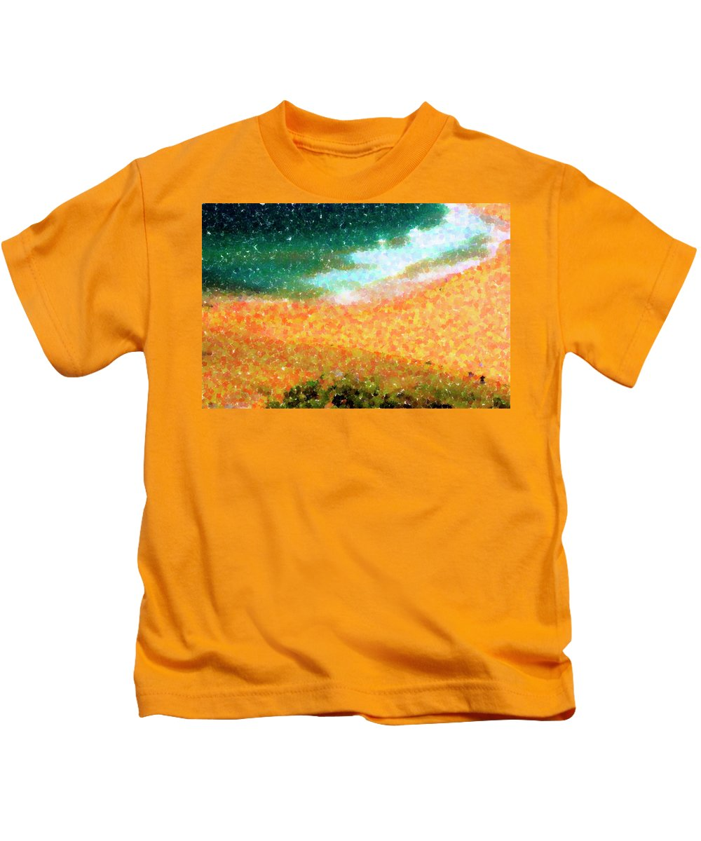 Impressionism Kids T-Shirt featuring the photograph Narrabeen Beach by Sheila Smart Fine Art Photography