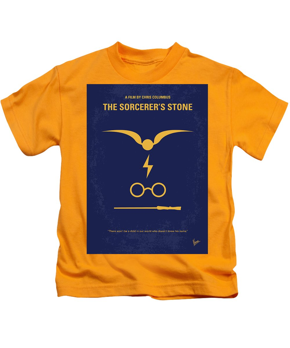196896ac61f Harry Kids T-Shirt featuring the digital art No101 My Harry Potter Minimal Movie  Poster