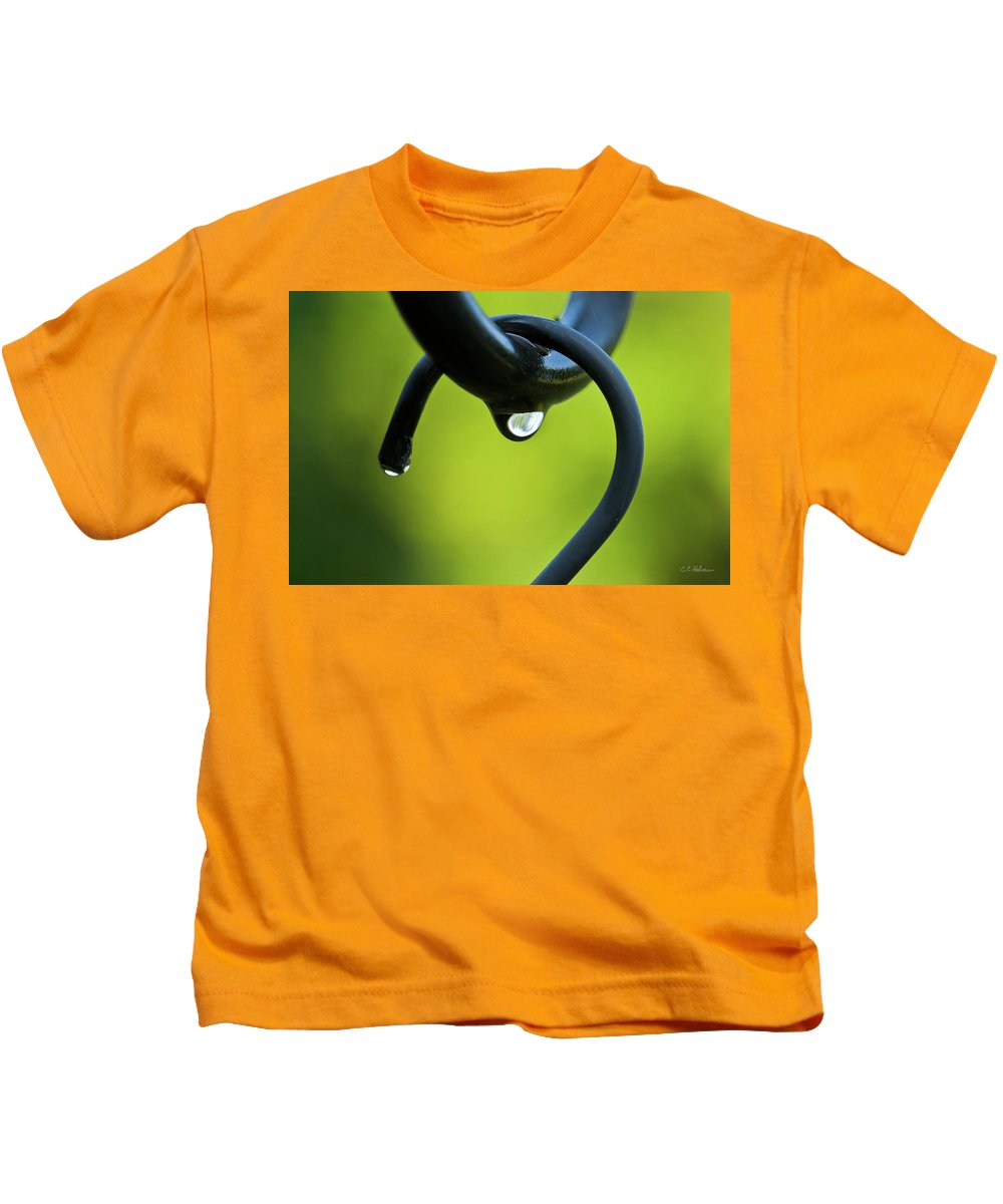 Hook Kids T-Shirt featuring the photograph On The Hook by Christopher Holmes