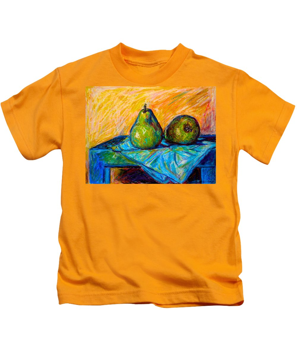 Still Life Kids T-Shirt featuring the painting Other Pears by Kendall Kessler