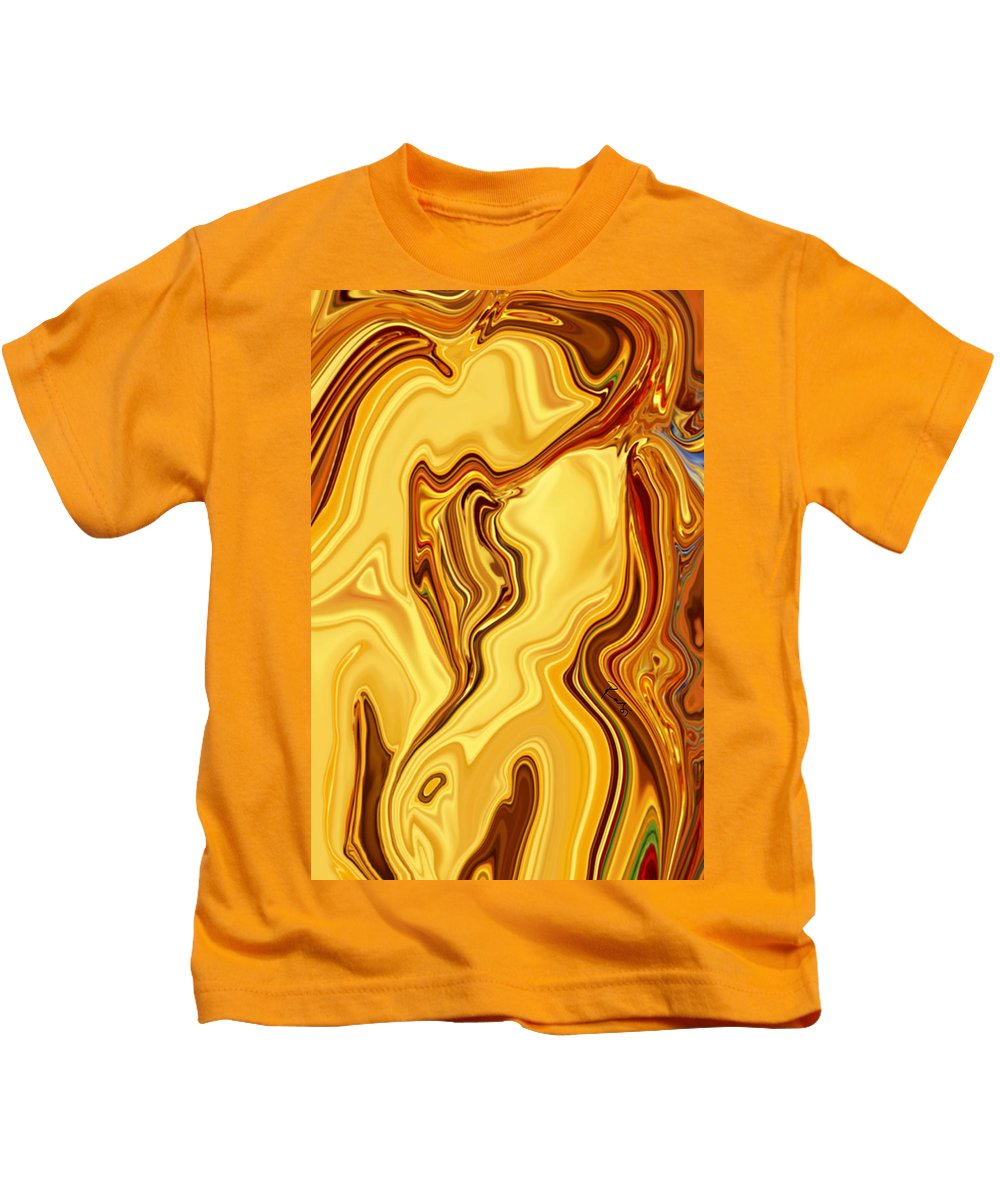 Abstract Kids T-Shirt featuring the digital art Passion by Rabi Khan
