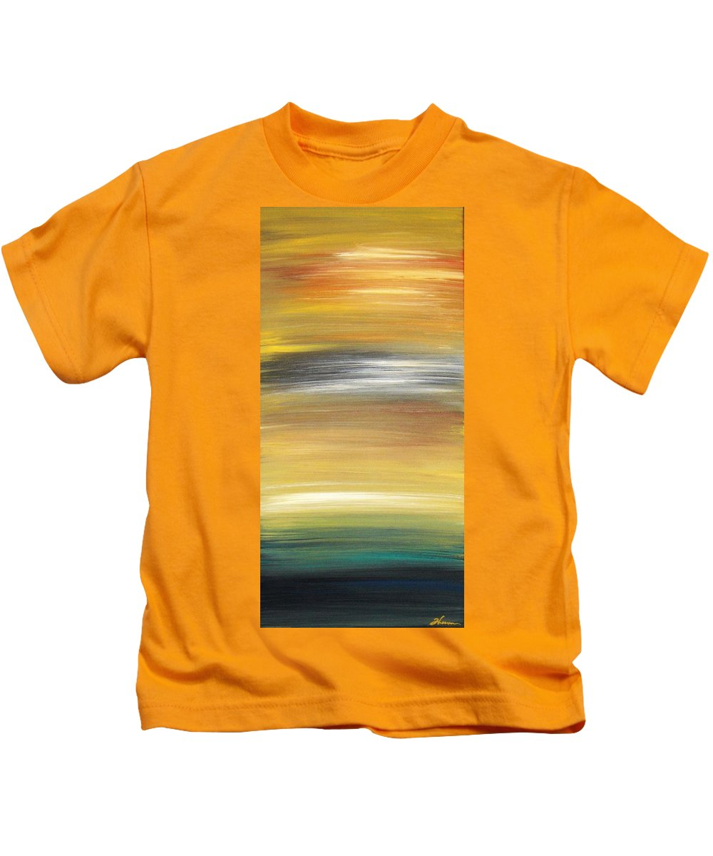 Waves Kids T-Shirt featuring the painting Pond by Todd Hoover