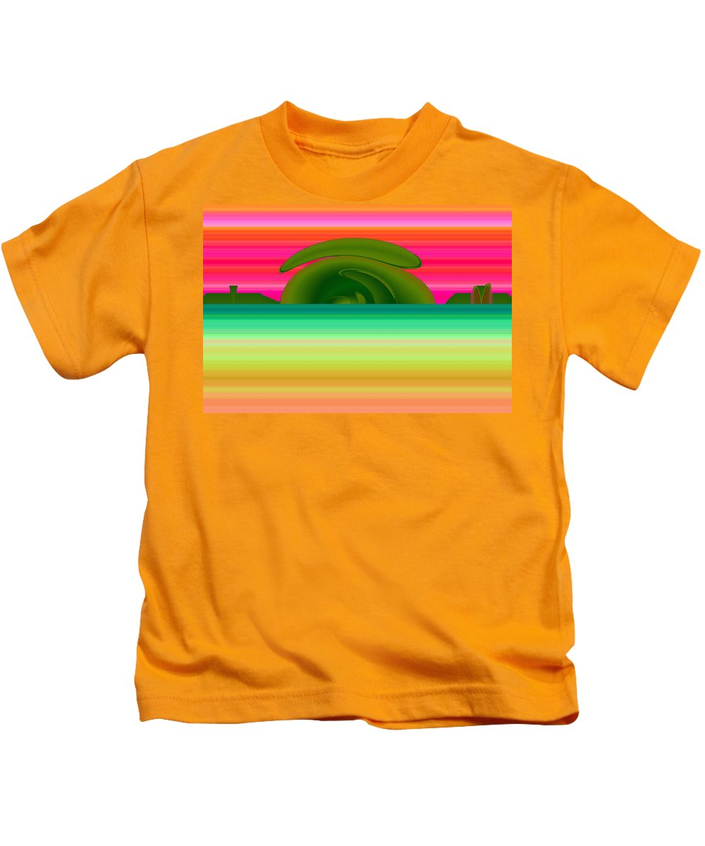 Pueblo Kids T-Shirt featuring the digital art Pueblo Castle by XERXEESE Color Schemes