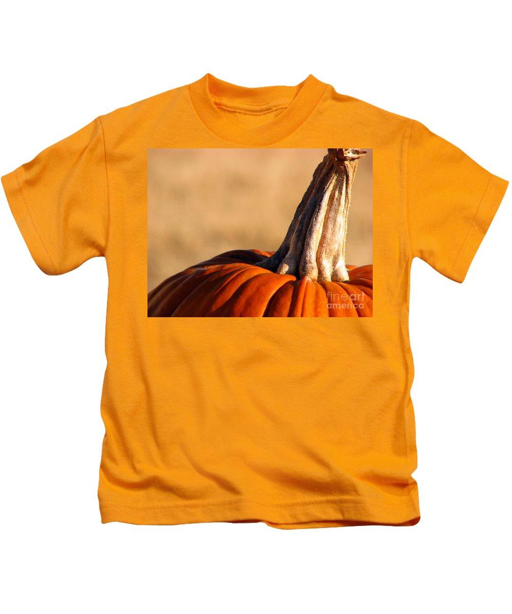 Pumpkins Kids T-Shirt featuring the photograph Pumpkin by Amanda Barcon