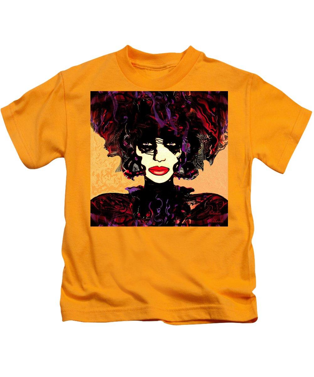 Natalie Holland Art Kids T-Shirt featuring the painting Queen Of Butterflies by Natalie Holland