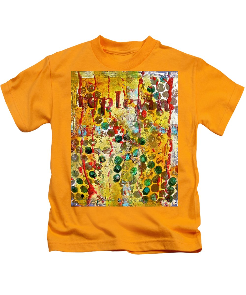 Abstract Art Kids T-Shirt featuring the painting Replevin by Laura Pierre-Louis