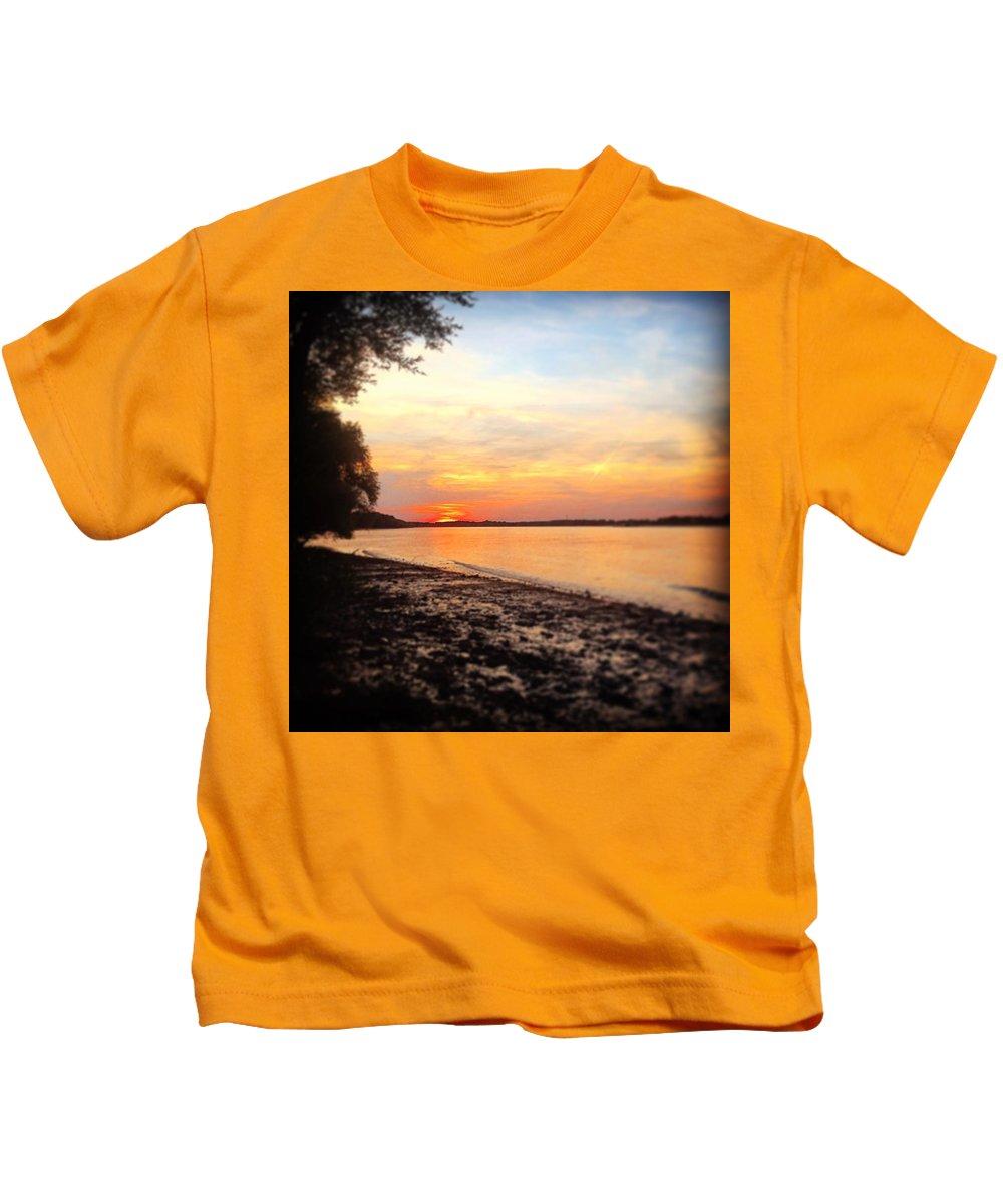 Kids T-Shirt featuring the photograph River Danube by Adam Schrenk