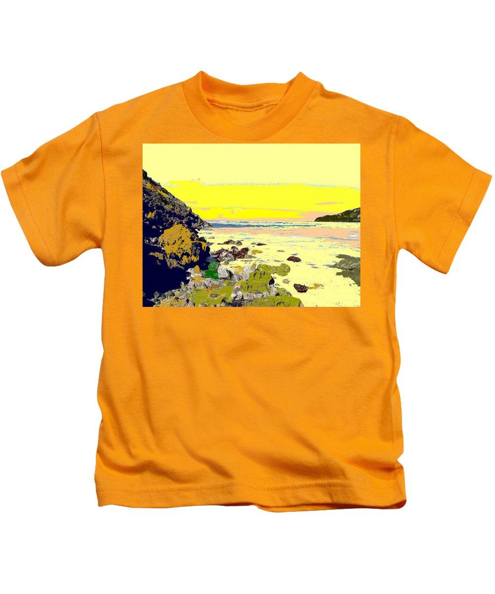 Beach Kids T-Shirt featuring the photograph Rocky Beach by Ian MacDonald