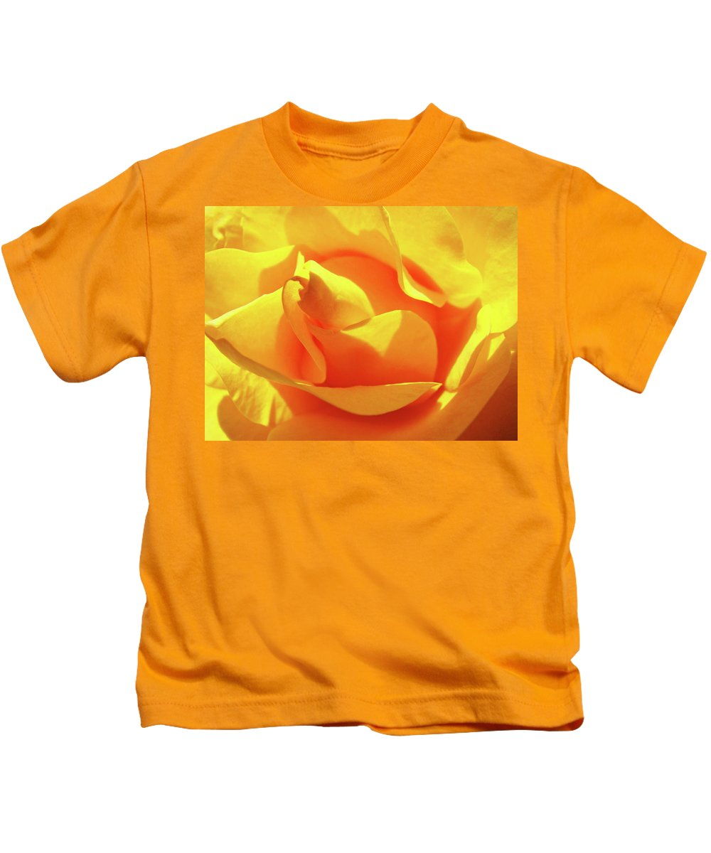 Rose Kids T-Shirt featuring the photograph Rose Bright Orange Sunny Rose Flower Floral Baslee Troutman by Baslee Troutman