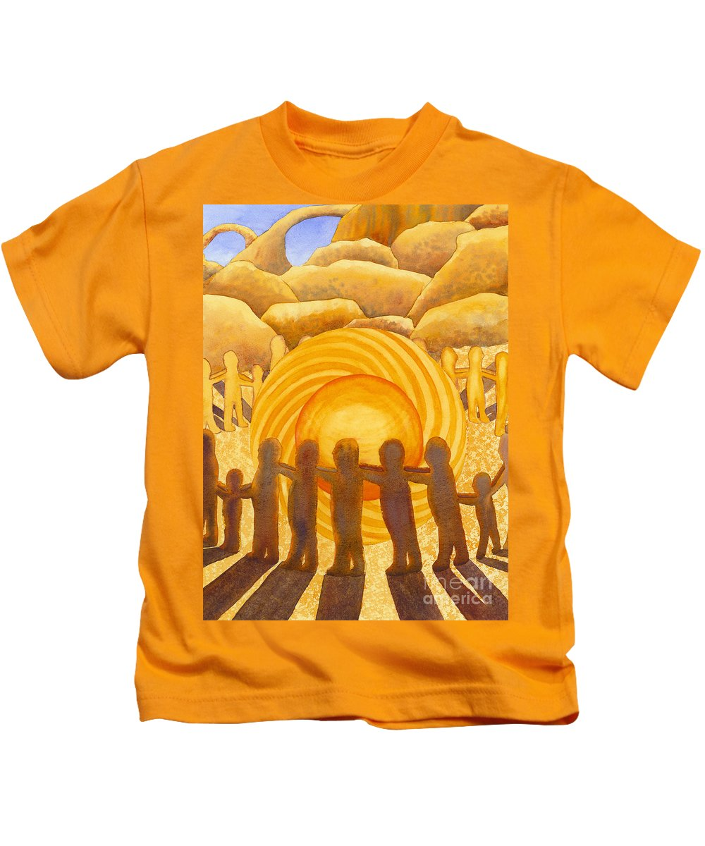 Chakra Kids T-Shirt featuring the painting Sacral Chakra by Catherine G McElroy