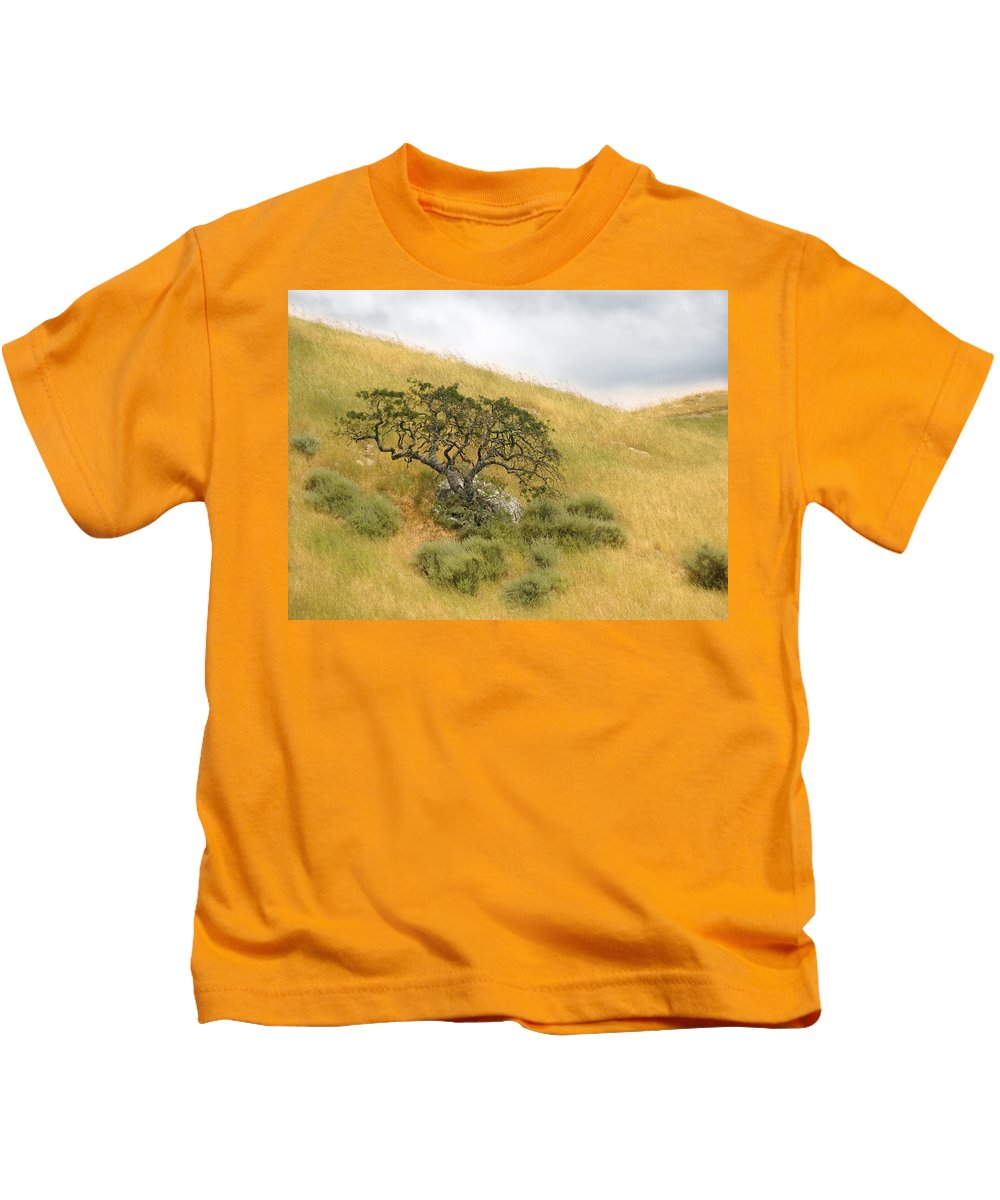 Landscape Kids T-Shirt featuring the photograph Sage Under Oak by Karen W Meyer