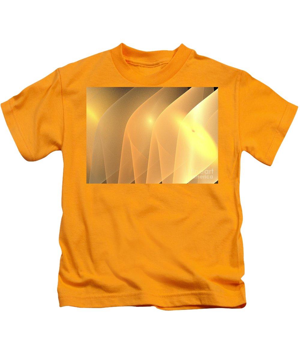 Apophysis Kids T-Shirt featuring the digital art Sand Ridges by Kim Sy Ok
