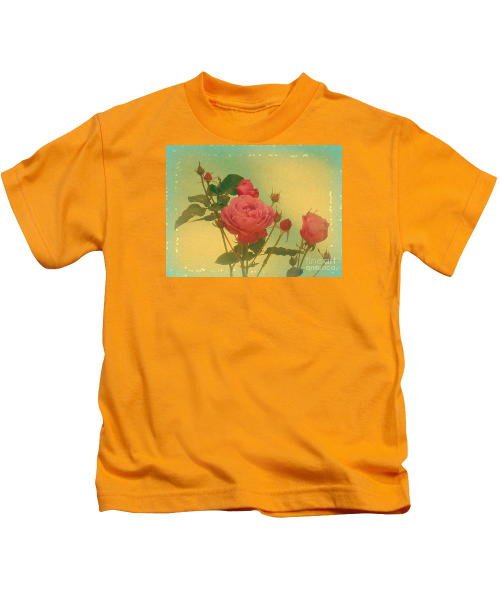Roses Kids T-Shirt featuring the photograph Secret Garden by Amy Shumway