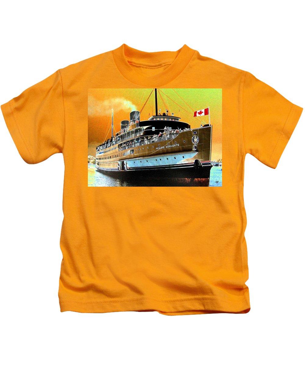 Princess Marguerite Kids T-Shirt featuring the digital art Shipshape 6 by Will Borden