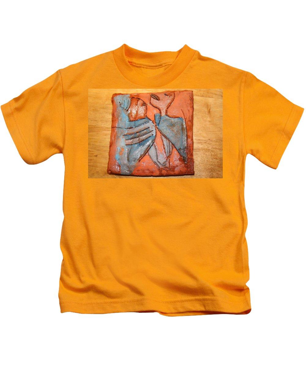 Jesus Kids T-Shirt featuring the ceramic art Sir - Tile by Gloria Ssali