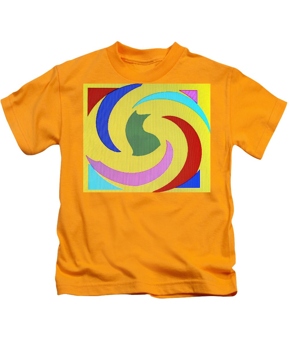 Abstract Kids T-Shirt featuring the digital art Spiral Three by Ian MacDonald