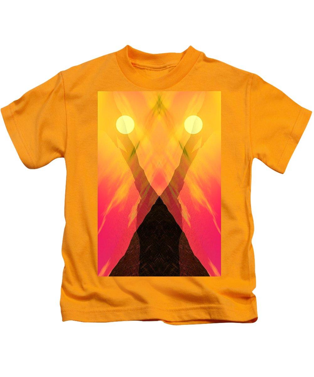 Kids T-Shirt featuring the digital art Spirit Of The Mountain by David Lane