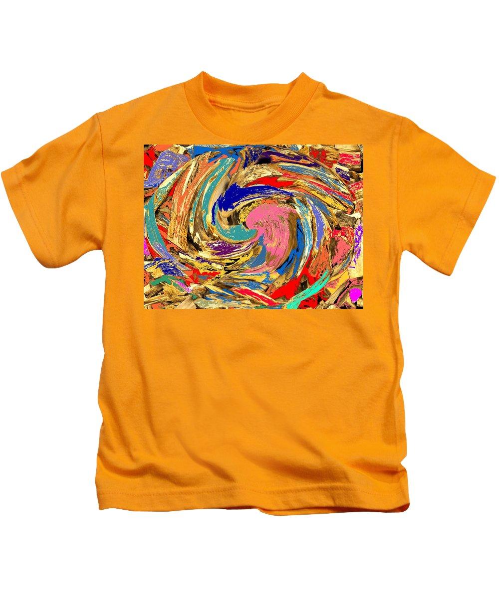 Wood Kids T-Shirt featuring the photograph Split by Ian MacDonald