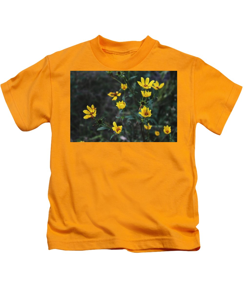 Yellow Kids T-Shirt featuring the photograph Spring Flowers by Hunter Kotlinski
