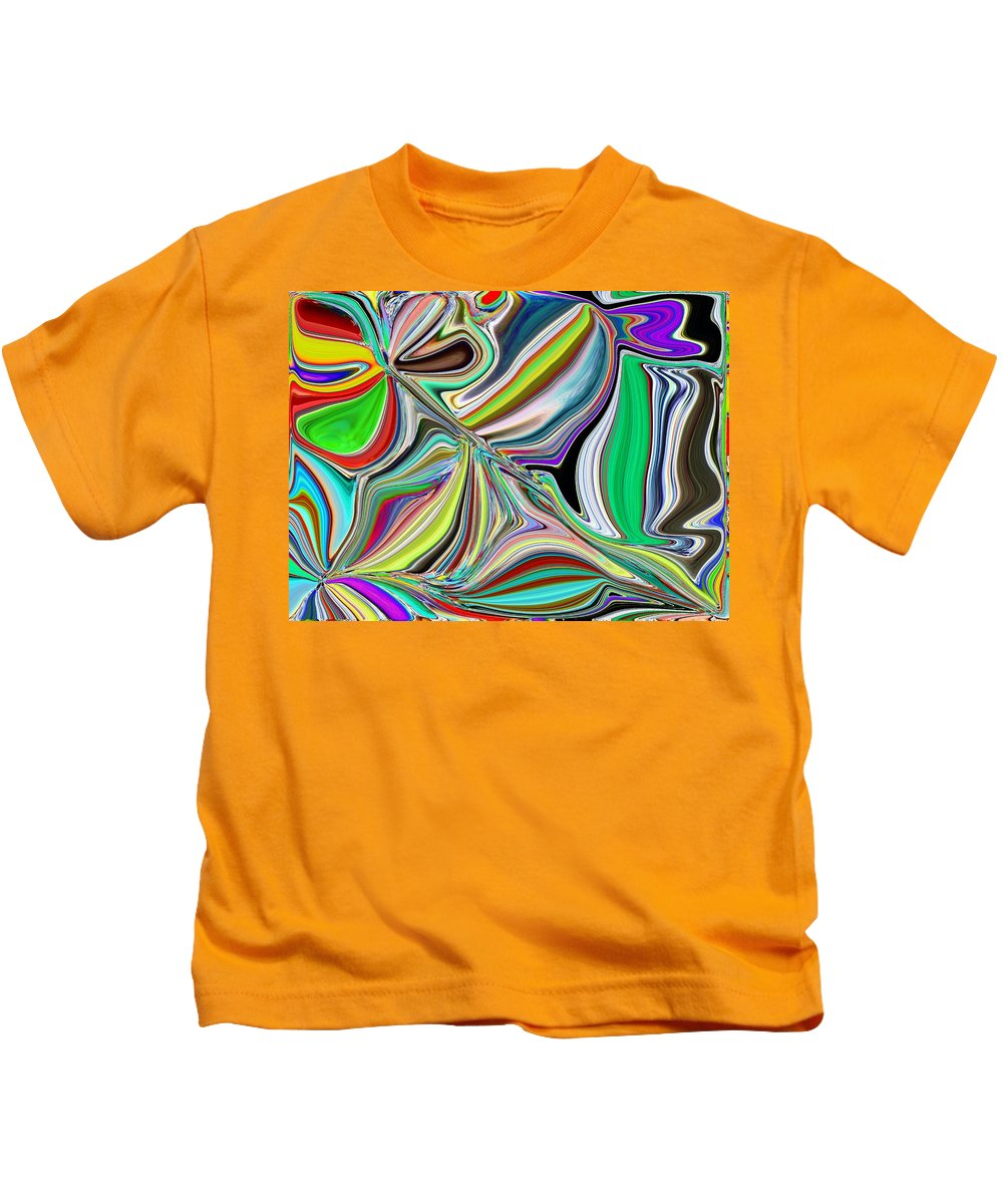 Abstract Kids T-Shirt featuring the digital art Spring Kaleidoscope by Tim Allen