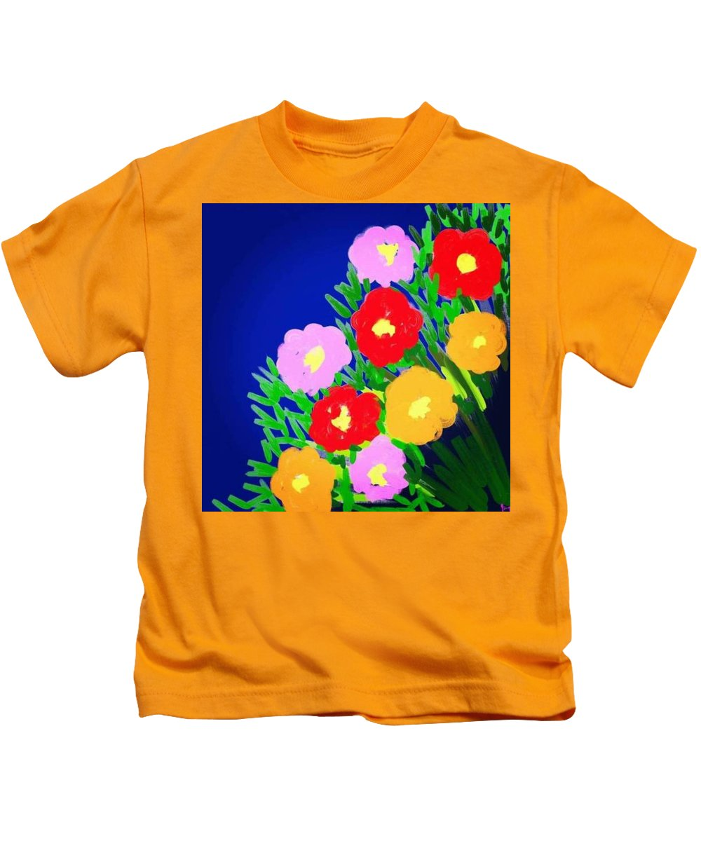 Kids T-Shirt featuring the digital art Spring by Yilmar Henry