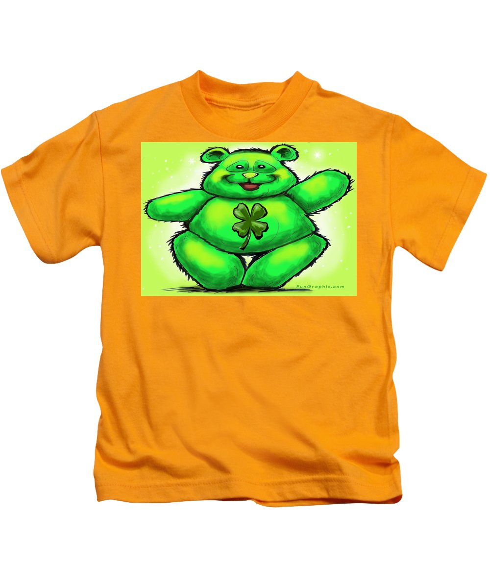 St. Patrick Kids T-Shirt featuring the painting St. Patrick by Kevin Middleton