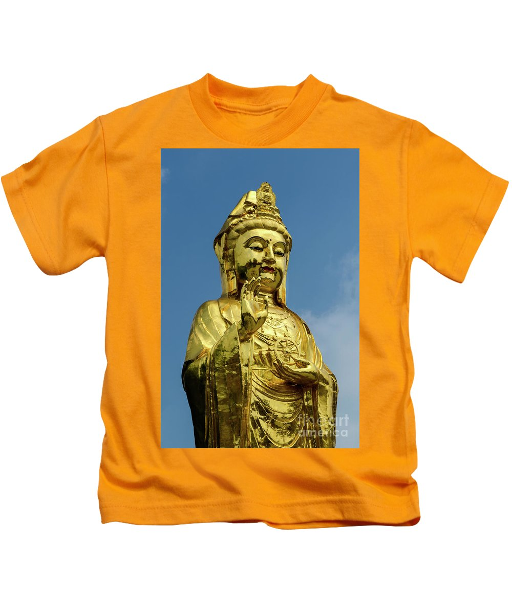 Standing Kids T-Shirt featuring the photograph Standing Budda by Paul Martin