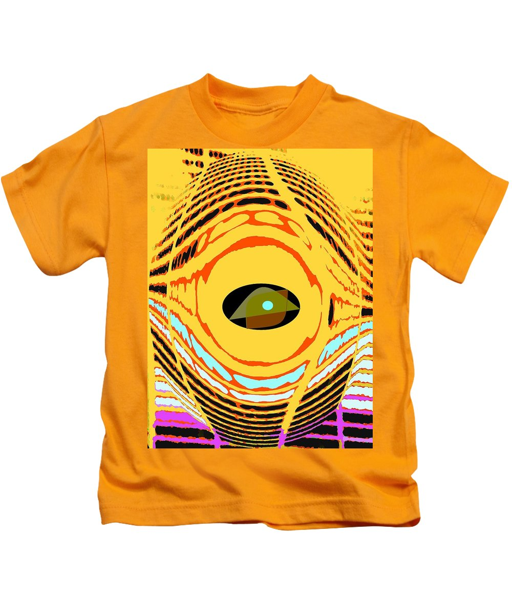 Yellow Kids T-Shirt featuring the photograph Structure In Perspective by Ian MacDonald