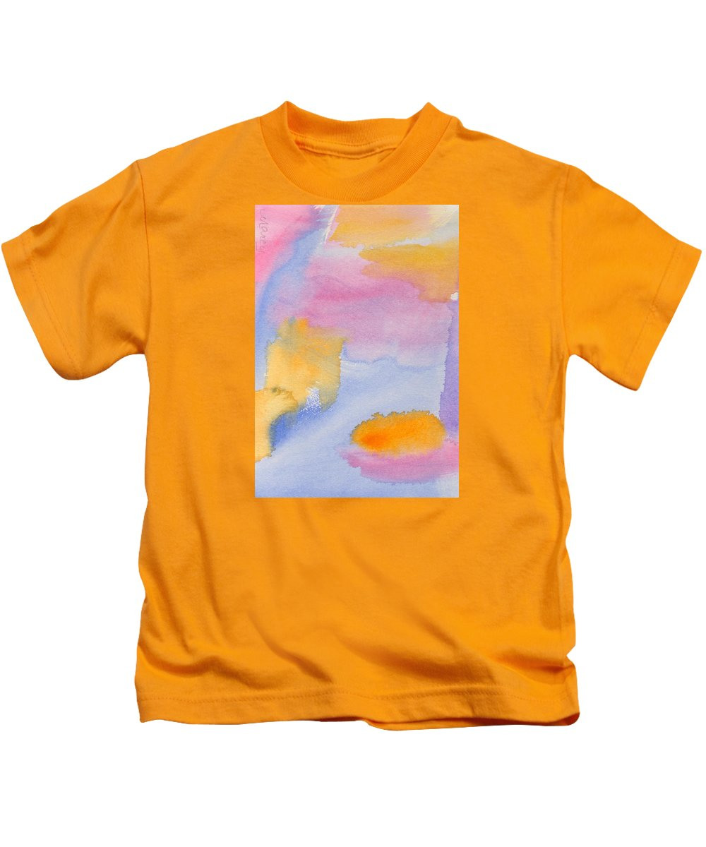 Blue Kids T-Shirt featuring the painting Summer Breeze by Marcy Brennan