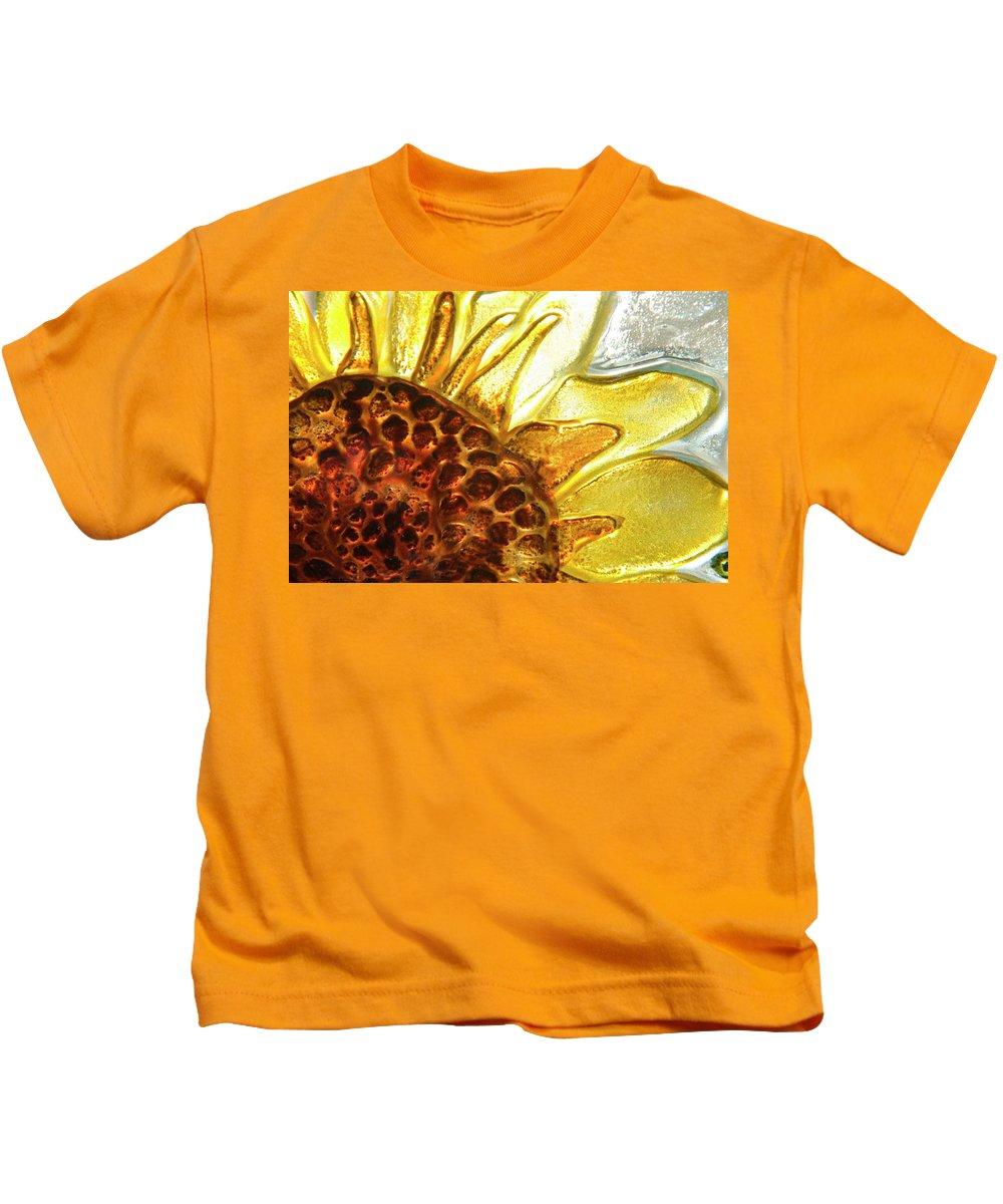 Sun Kids T-Shirt featuring the photograph Sunburst Sunflower by Jerry McElroy