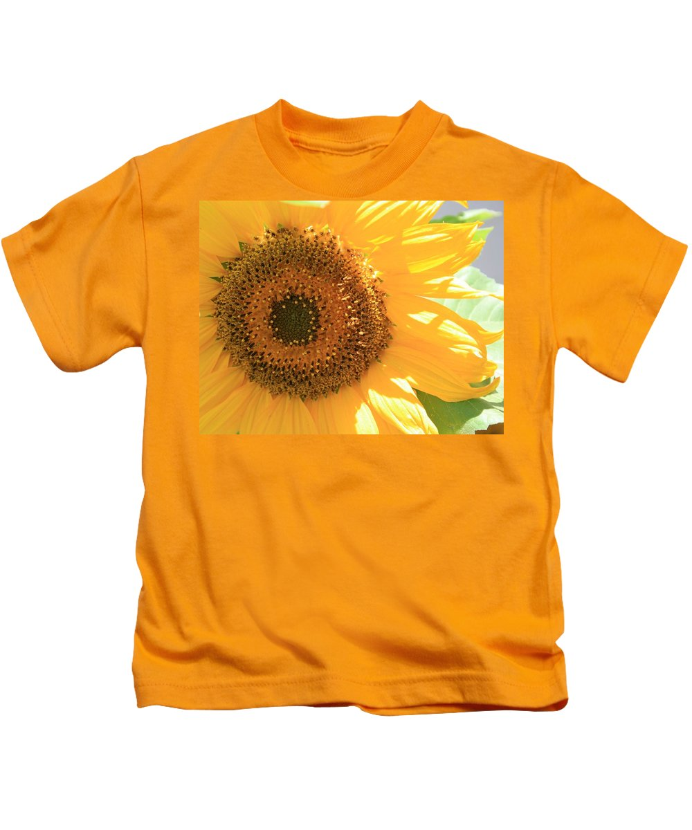 Sunflower Kids T-Shirt featuring the photograph Sunflowers by Marna Edwards Flavell