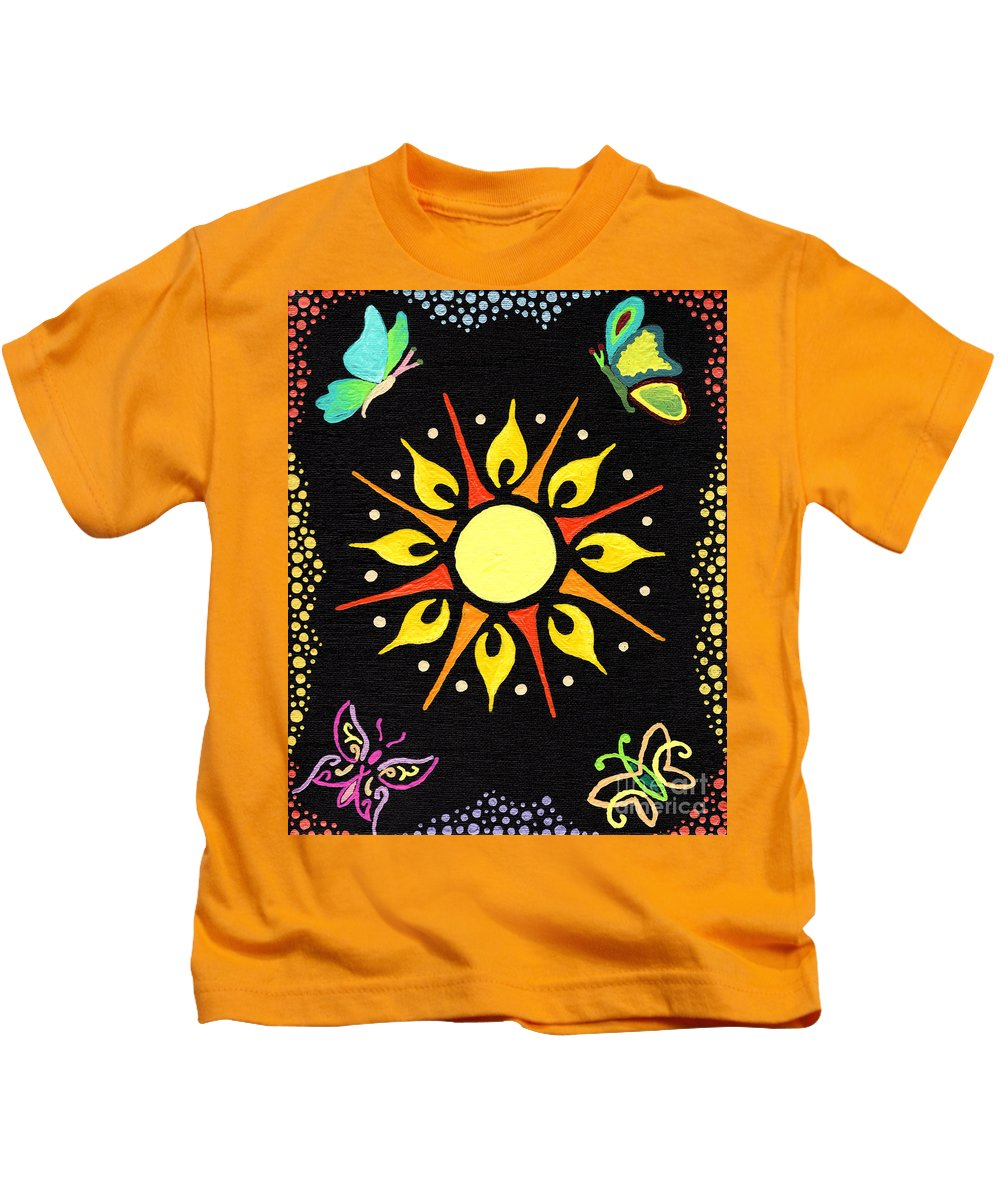 Kasia Kids T-Shirt featuring the painting Sunny Delight by Kasia Bitner