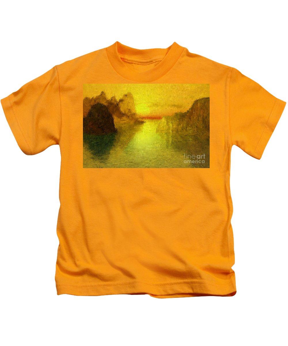 Nature Kids T-Shirt featuring the digital art Sunrise by David Lane