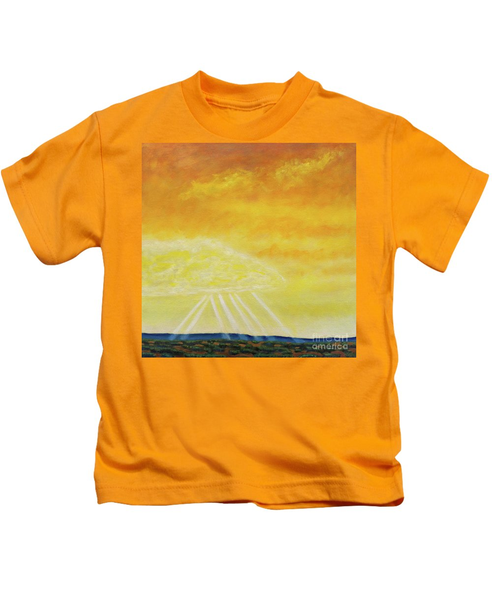Landscape Kids T-Shirt featuring the painting Super Seven by Brian Commerford