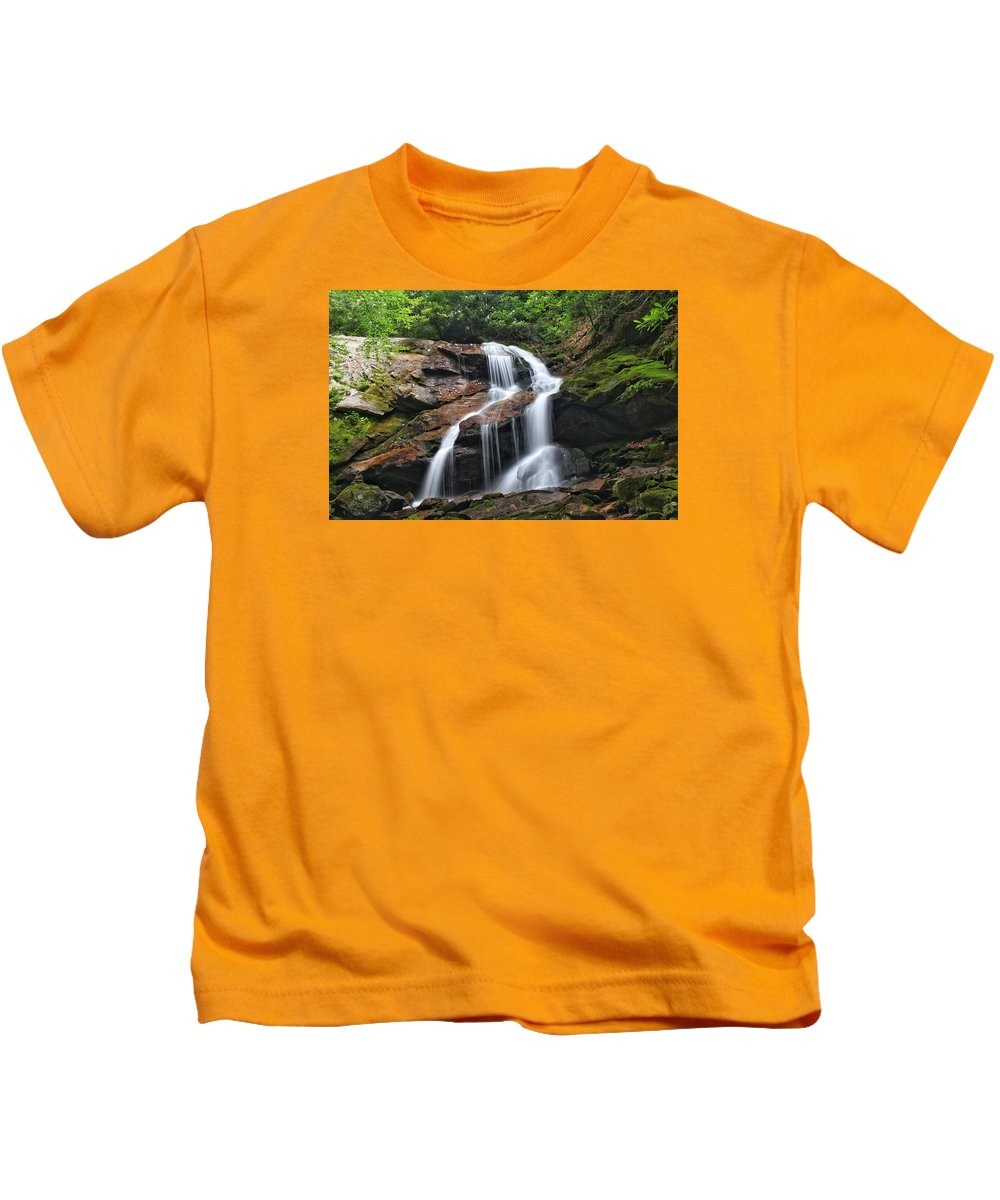 Tanasee Creek Kids T-Shirt featuring the photograph Upper Dill Falls by Chris Berrier