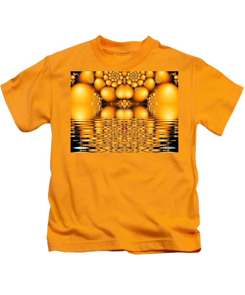 Tangerine Orange Water Sacred Tears Kids T-Shirt featuring the digital art Tangerine Tears by Veronica Jackson
