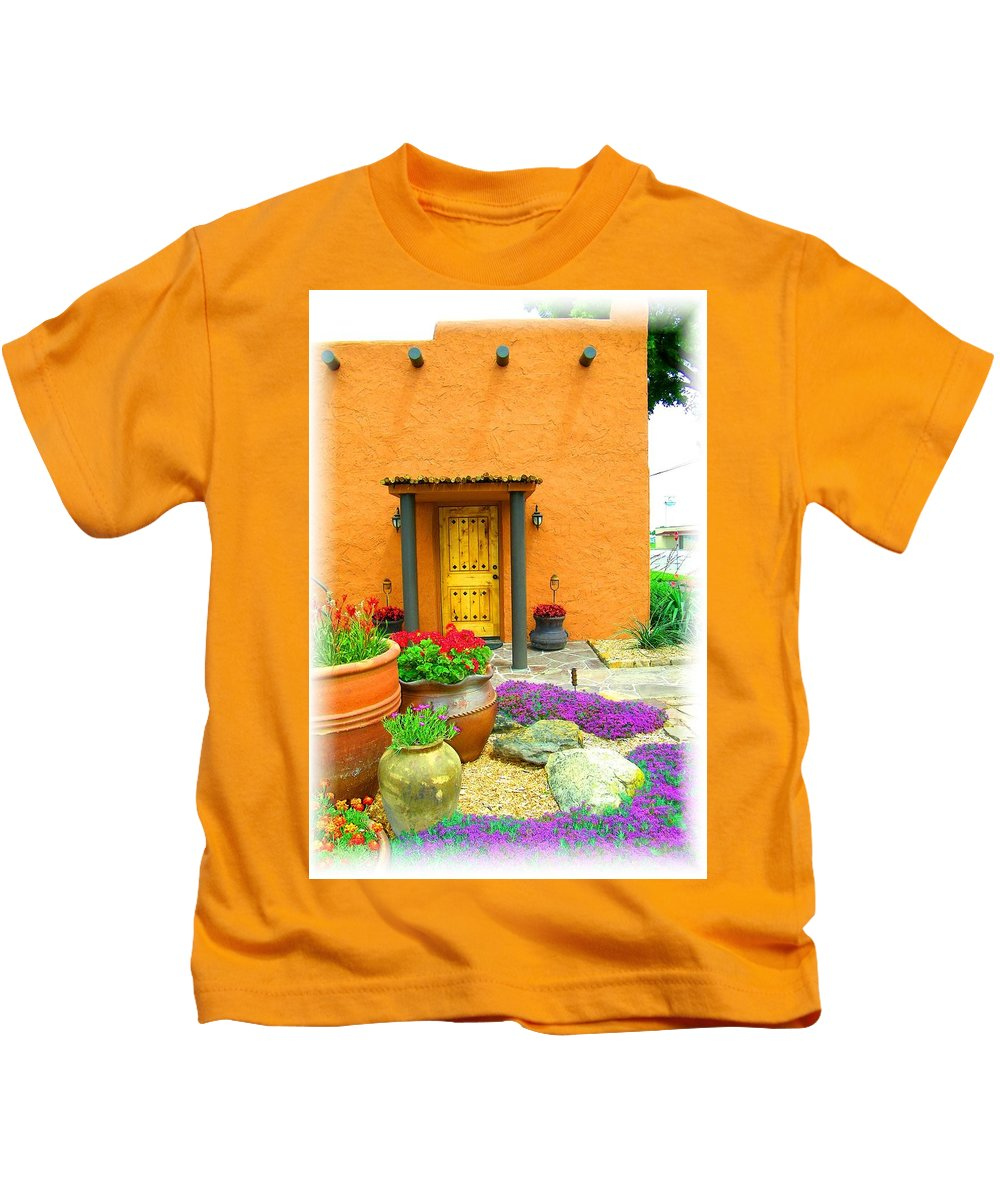 Adobe Kids T-Shirt featuring the photograph Texas Fiesta-style by Gale Cochran-Smith