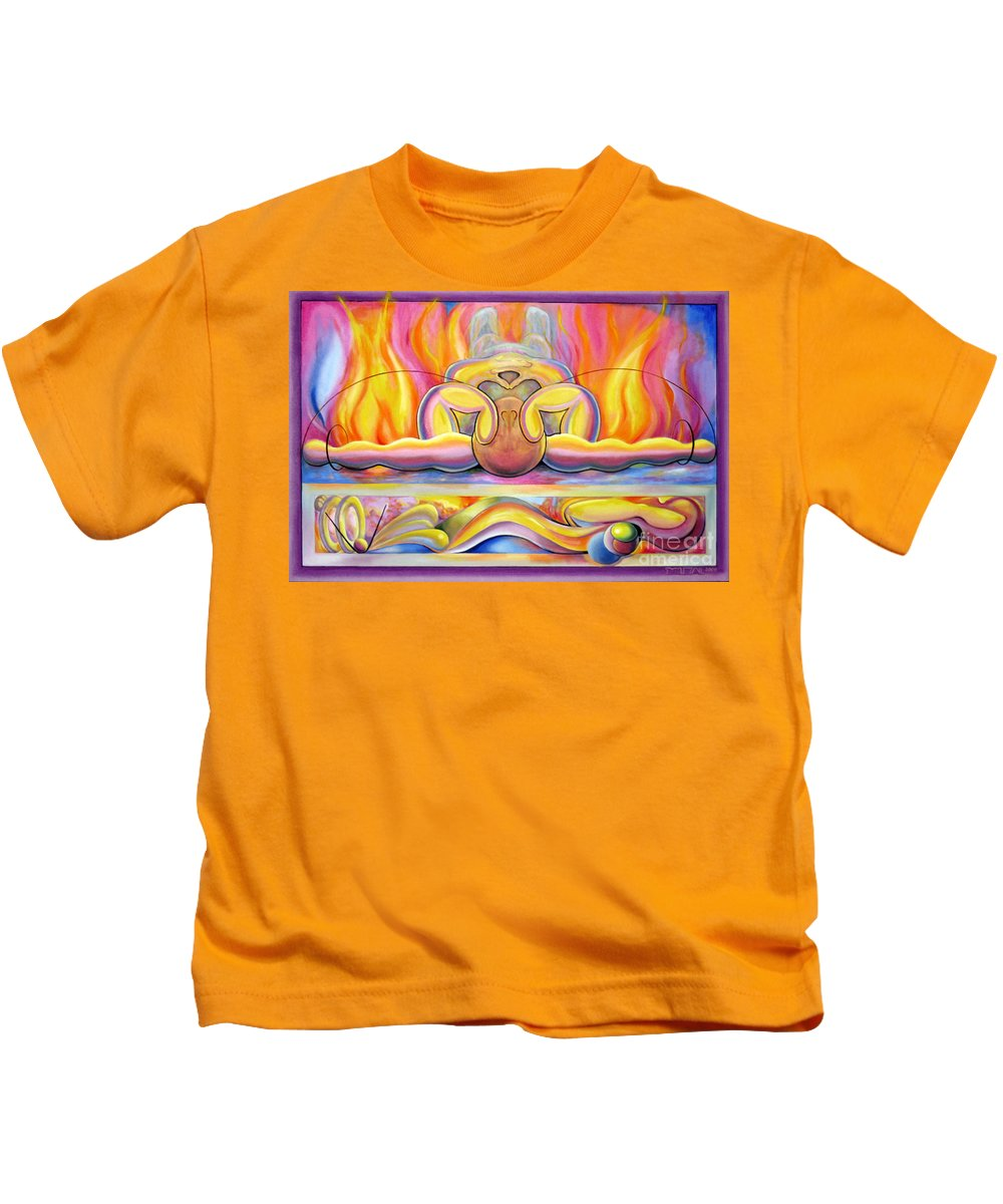 Alfred Kids T-Shirt featuring the painting The Body Wave by Alfred Dolezal