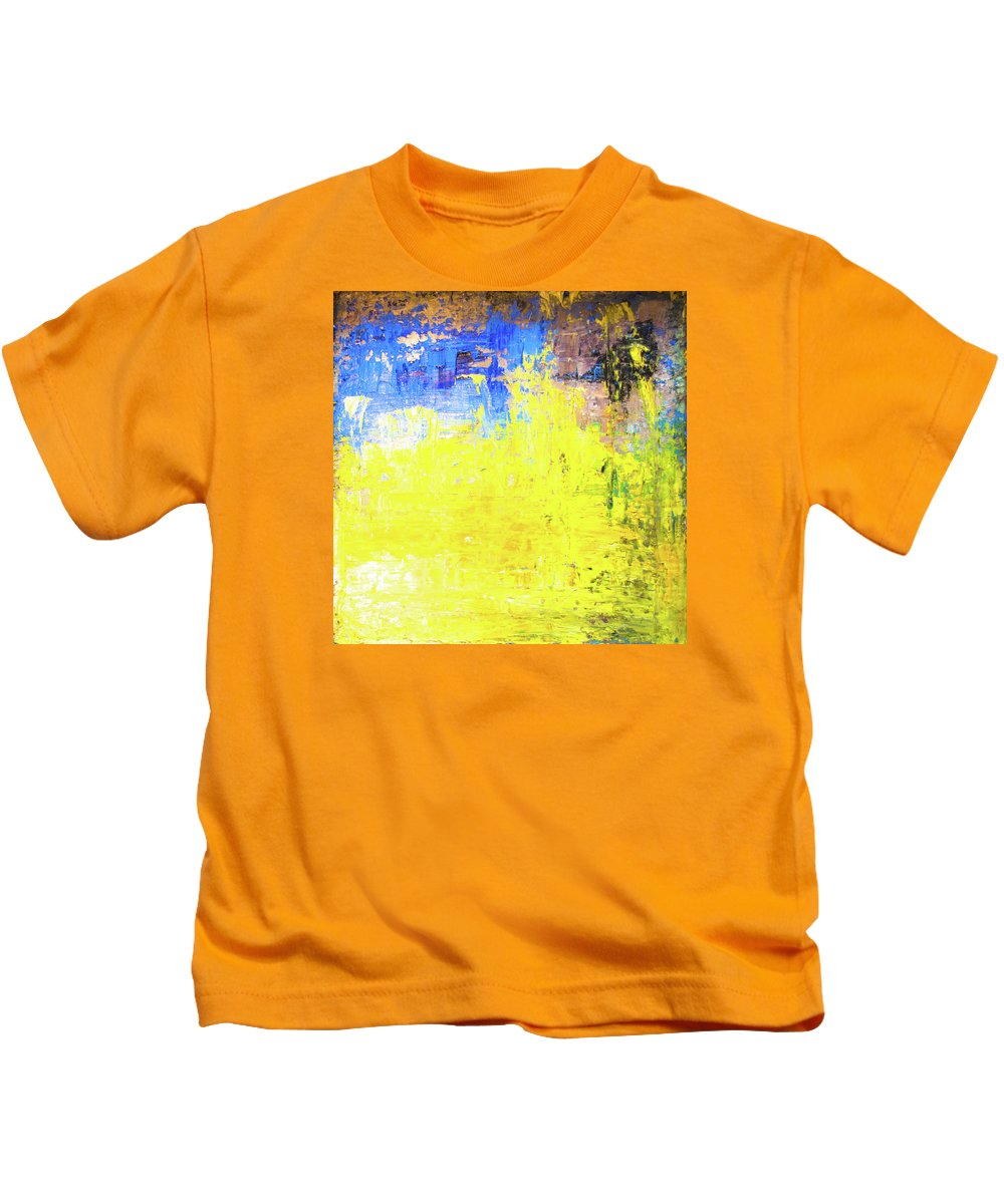 The Catcher In The Rye Kids T-Shirt featuring the painting The Catcher In The Rye by Eckhard Besuden